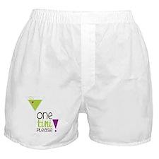 One Tini Please Boxer Shorts