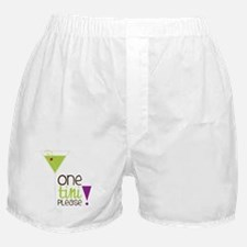 One Tini Please Boxer Shorts