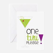 One Tini Please Greeting Card