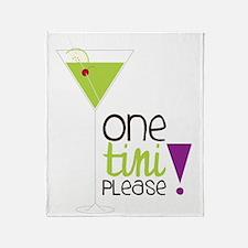 One Tini Please Throw Blanket