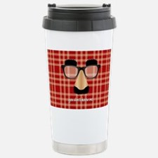 Disguise Glasses Plaid- Travel Mug