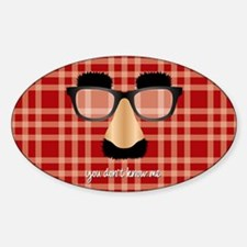 Disguise Glasses Plaid-Wide Decal