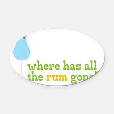 Rum Gone Oval Car Magnet