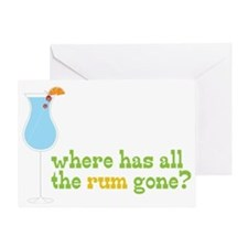 Rum Gone Greeting Card