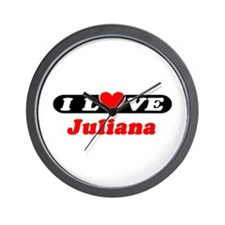 I Love Juliana Wall Clock