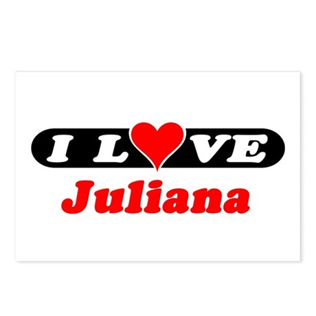 I Love Juliana Postcards (Package of 8)