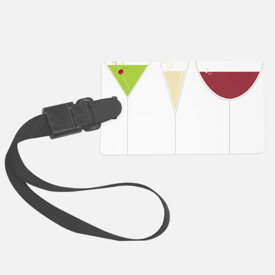 Drink Trio Large Luggage Tag