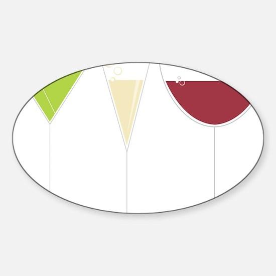 Drink Trio Sticker (Oval)
