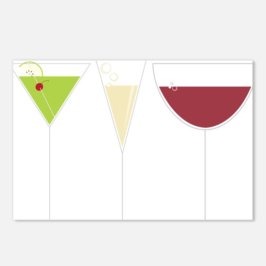 Drink Trio Postcards (Package of 8)
