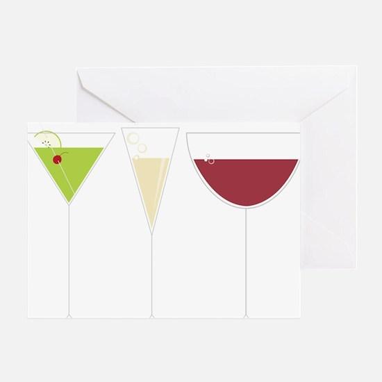 Drink Trio Greeting Card