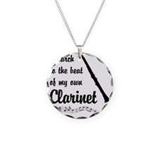 March to the Beat: Clarinet Necklace Circle Charm