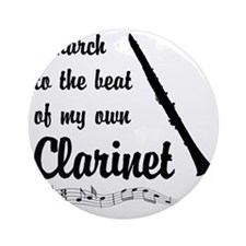 March to the Beat: Clarinet Round Ornament