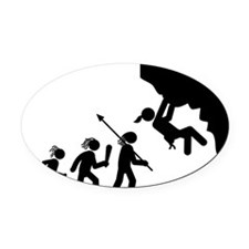 Rock-Climbing-AAH1 Oval Car Magnet