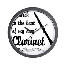 March to the Beat: Clarinet Wall Clock