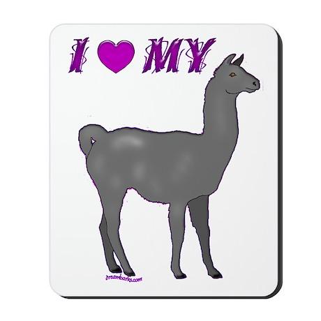 Llama or Alpaca Heart Mousepad