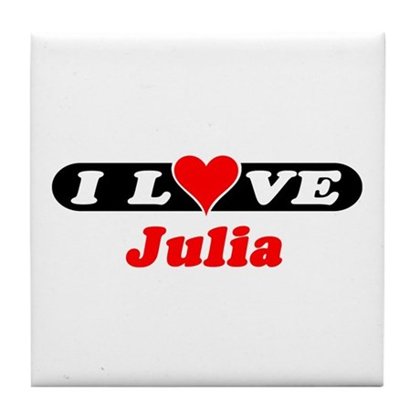 I Love Julia Tile Coaster