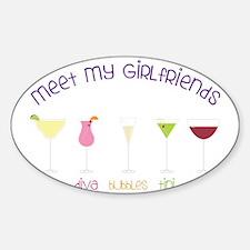 My Girlfriends Sticker (Oval)