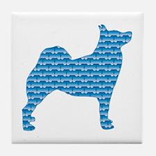 Bone Buhund Tile Coaster