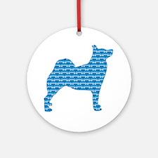 Bone Buhund Ornament (Round)