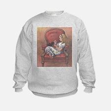 """Wonderland"" Quote on BACK - Sweatshirt"
