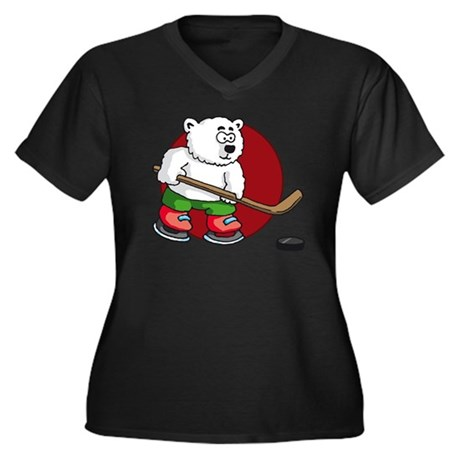 polar bear p Women's Plus Size Dark V-Neck T-Shirt
