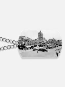 Coney Island Toronado Roller Coaster 1824 Dog Tags