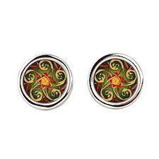 Celtic Pentacle Spiral Cufflinks