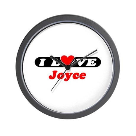 I Love Joyce Wall Clock