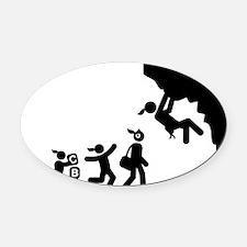 Rock-Climbing-AAI1 Oval Car Magnet