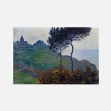 Claude Monet Church at Varengevil Rectangle Magnet