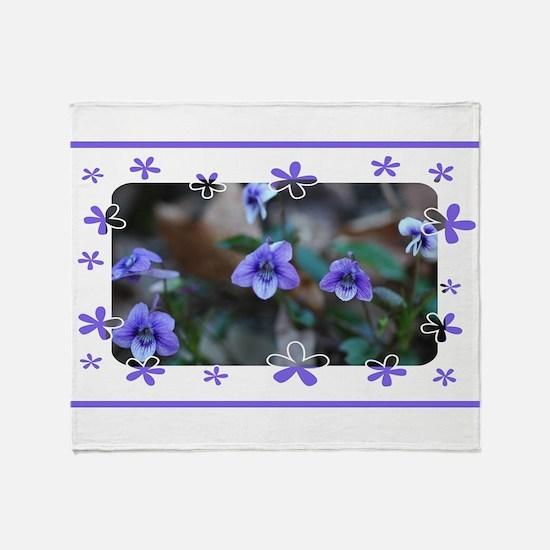 violets2.JPG Throw Blanket