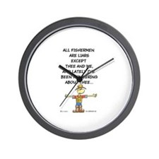ALL FISHERMEN ARE LIARS Wall Clock