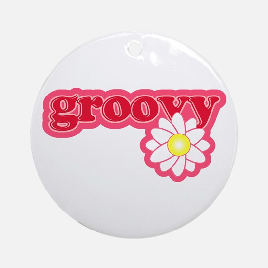 Groovy Flower Daisy Ornament (Round)