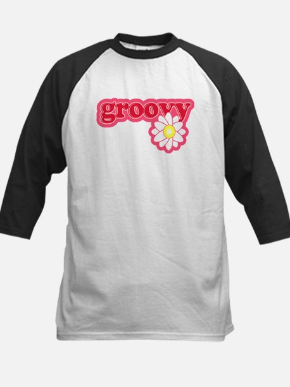 Groovy Flower Daisy Kids Baseball Jersey