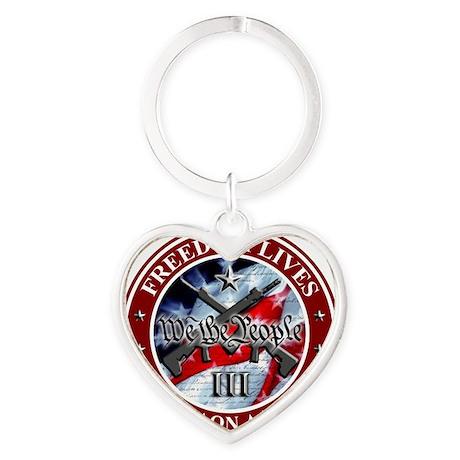Molon Labe Heart Keychain