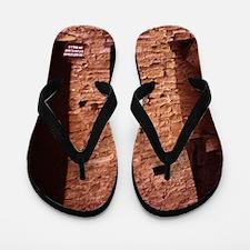 a hsitoric native American Pueblo Flip Flops