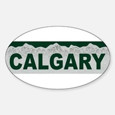 Calgary, Alberta Oval Decal