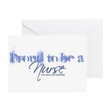 """""""Proud to be an Nurse"""" Greeting Cards (Pk. of 6)"""