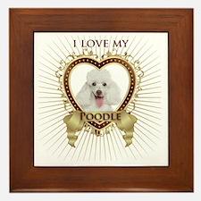 Poodle Love Framed Tile
