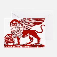 LionRed Greeting Card