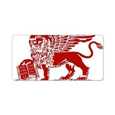 LionRed Aluminum License Plate