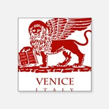 """Venice Lion Square Sticker 3"""" x 3"""""""