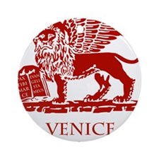 Venice Lion Round Ornament