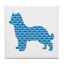 Bone Pyrenean Tile Coaster