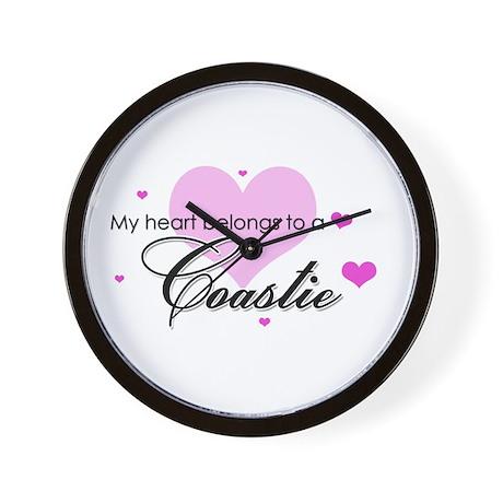 My Heart Belongs to a Coastie Wall Clock