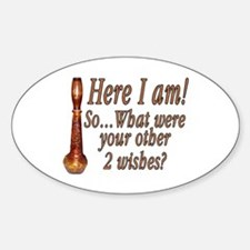 3 Wishes Oval Decal