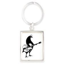 Guitar Chicken Portrait Keychain