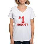 #1 Mommy Women's V-Neck T-Shirt