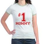 #1 Mommy Jr. Ringer T-Shirt