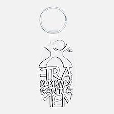 X-Traordinary Gentlemen - W Aluminum Oval Keychain